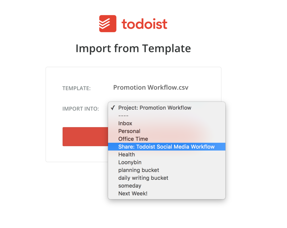 Work smarter not harder an importable blog sharing for Todoist project templates