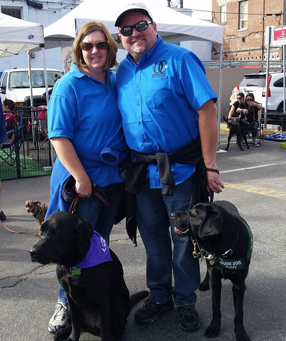 2016 Dogs of Downtown Long Beach Kim and Craig Molokai and Scholar.jpg