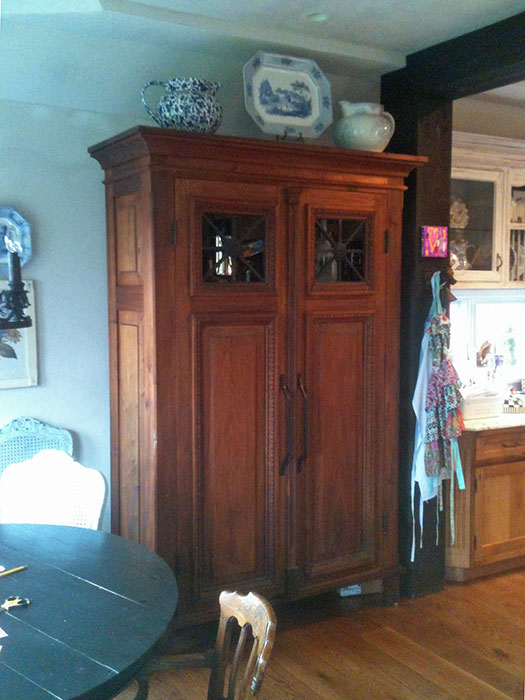 spanish cedar kitchen pantry