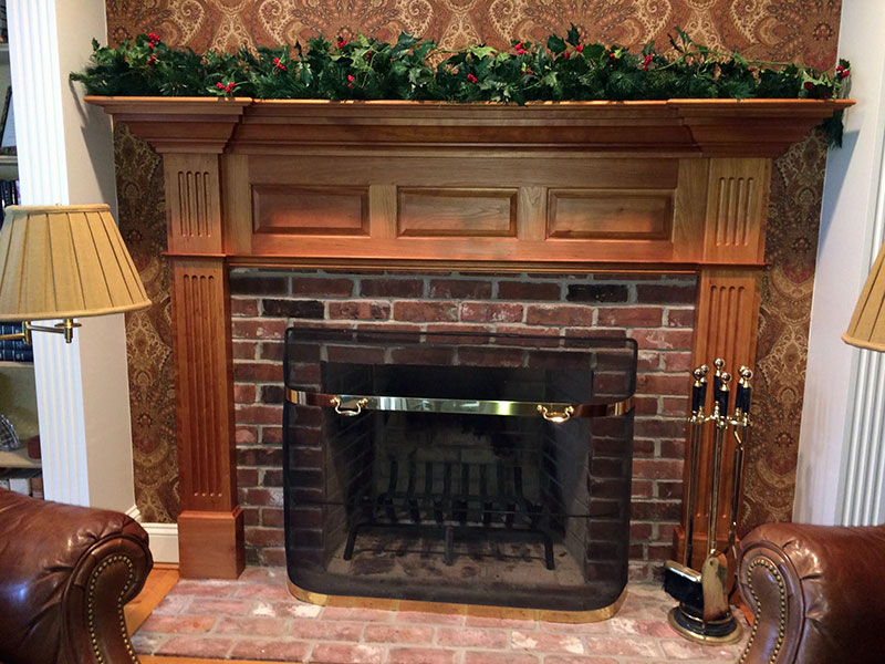 Cherry wooden mantle