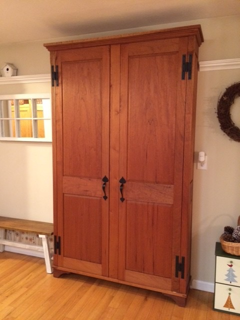 Cherry Pantry Cabinet
