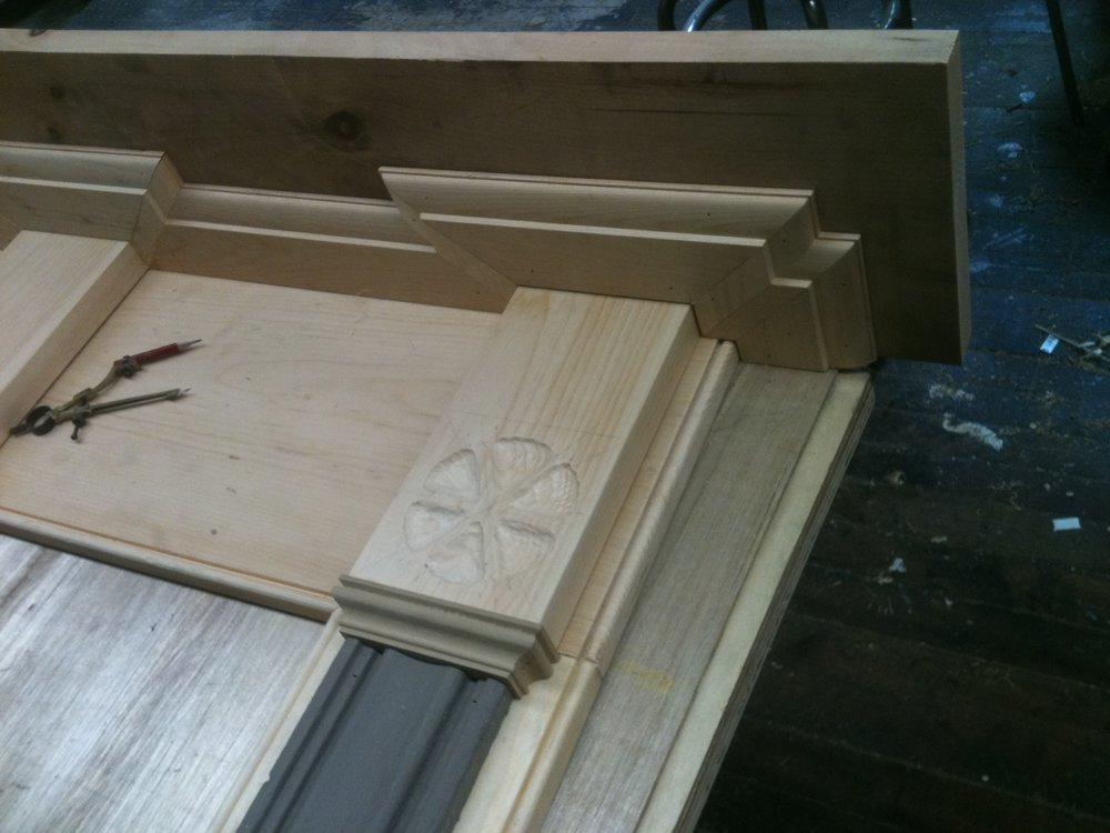 Details of door trim