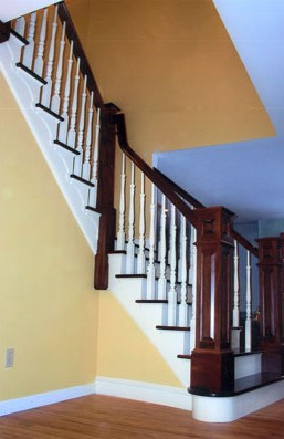 custom built mahogany staircase