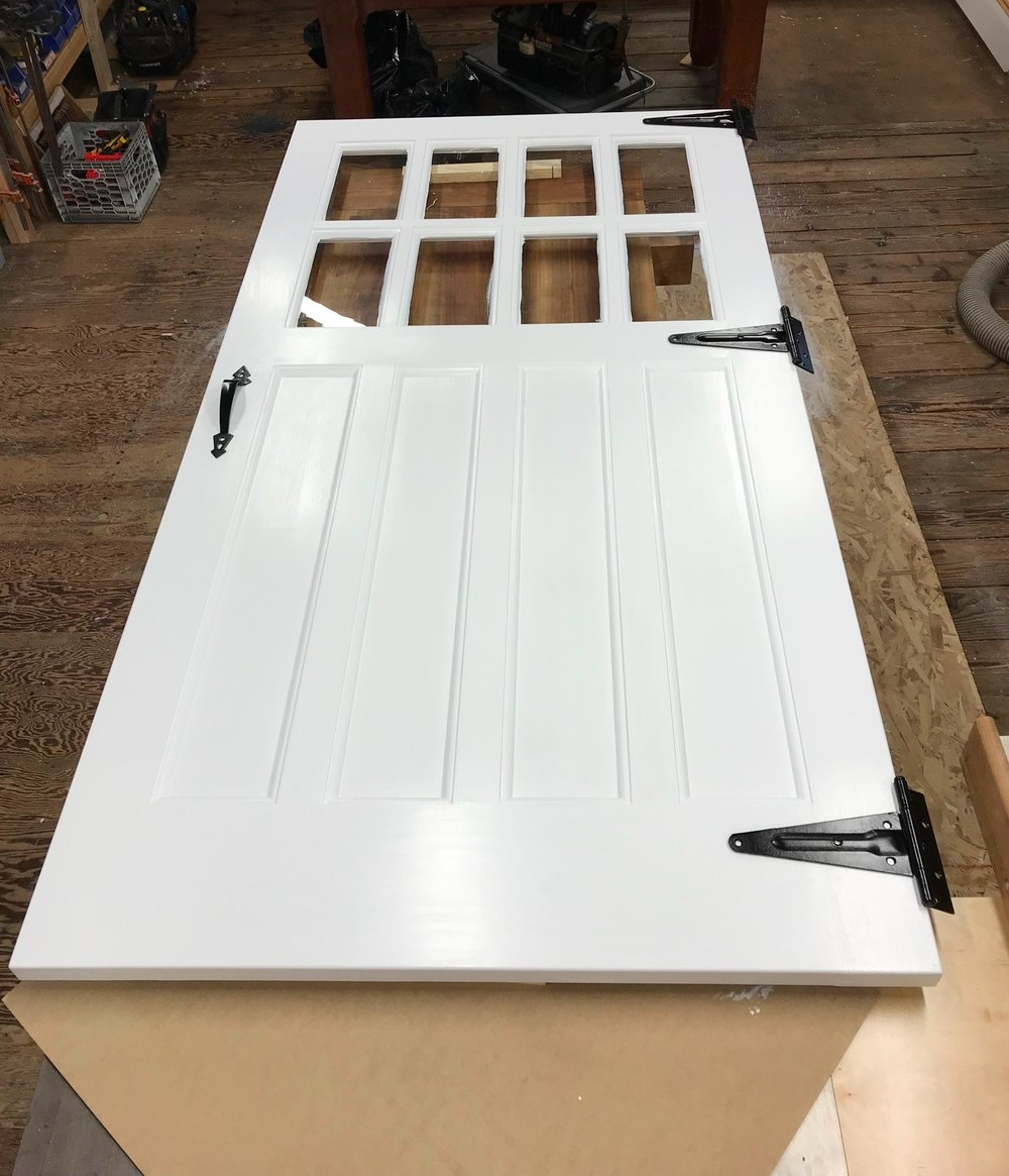 custom garage door carriage style