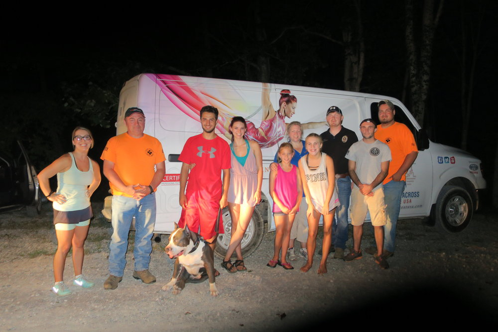 Our dancers, the puppy, and Scott County Rescue.