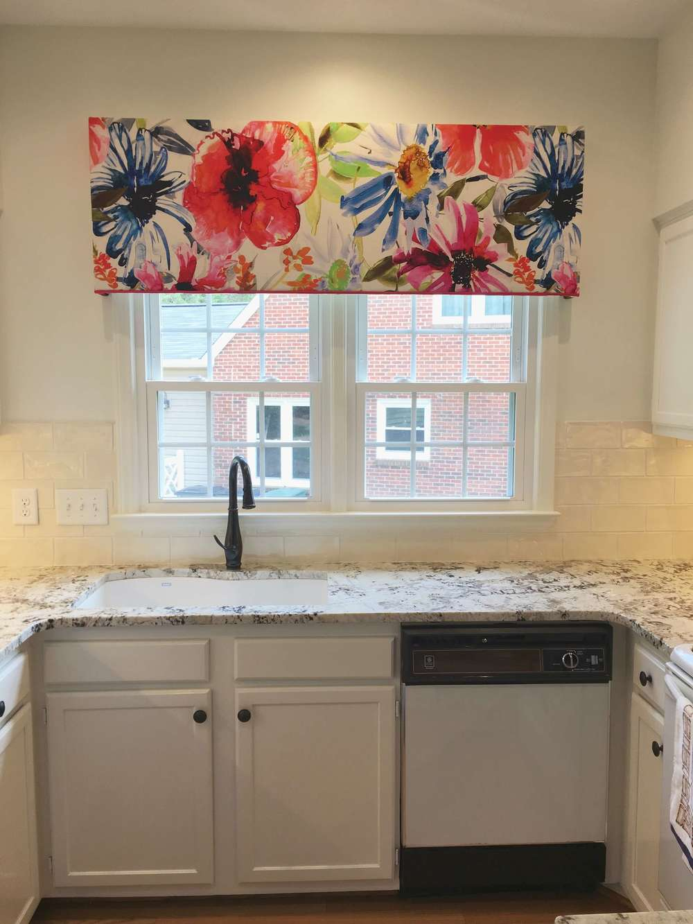 Large Scale Floral Cornice For Kitchen Window