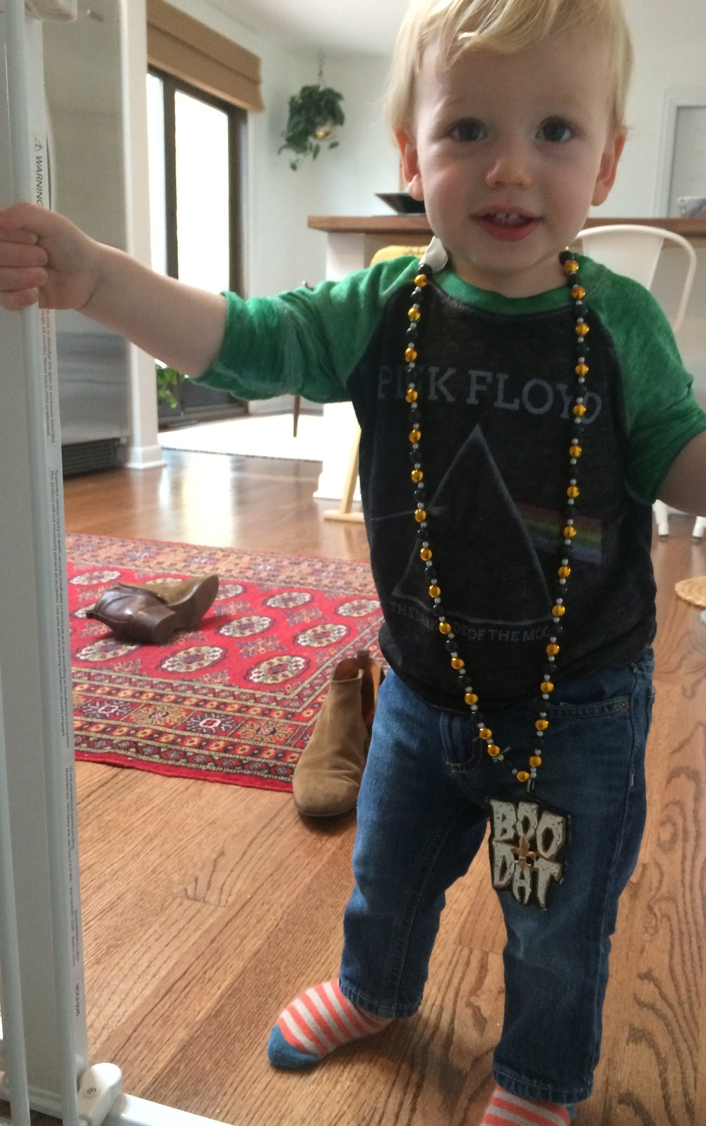 Our little Henry - 18 months and ready for Mardi Gras
