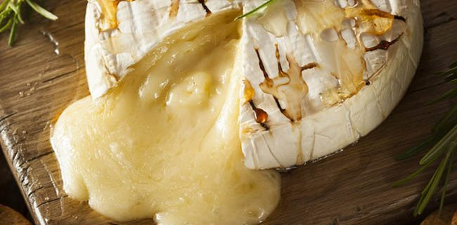 Brie. The most gooiest and decadent cheese of all cheeses.