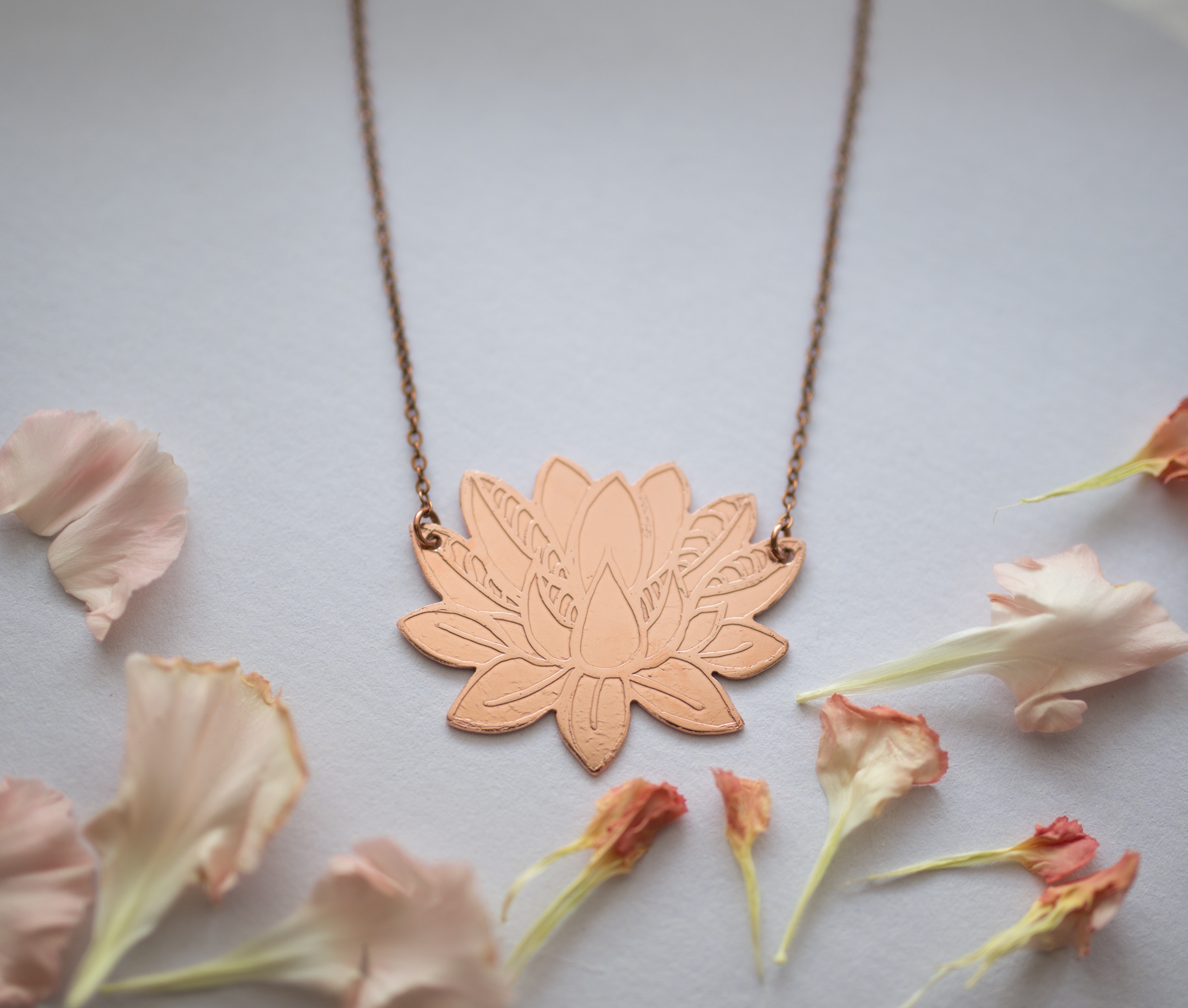 Lotus Flower Necklace Smithstine