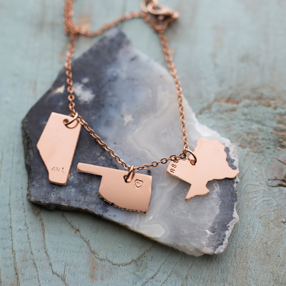 Alberta, Oklahoma and Texas Necklace