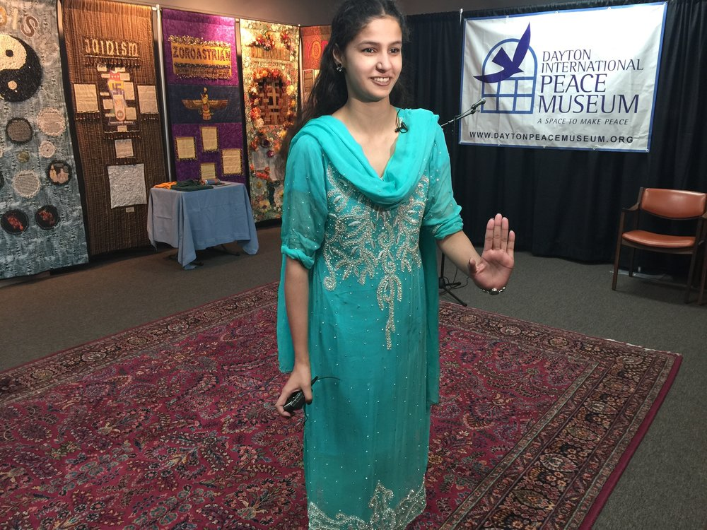 A reception was held Wednesday at the Museum for Pakistani youth ambassador of peace, Kainat Khan.