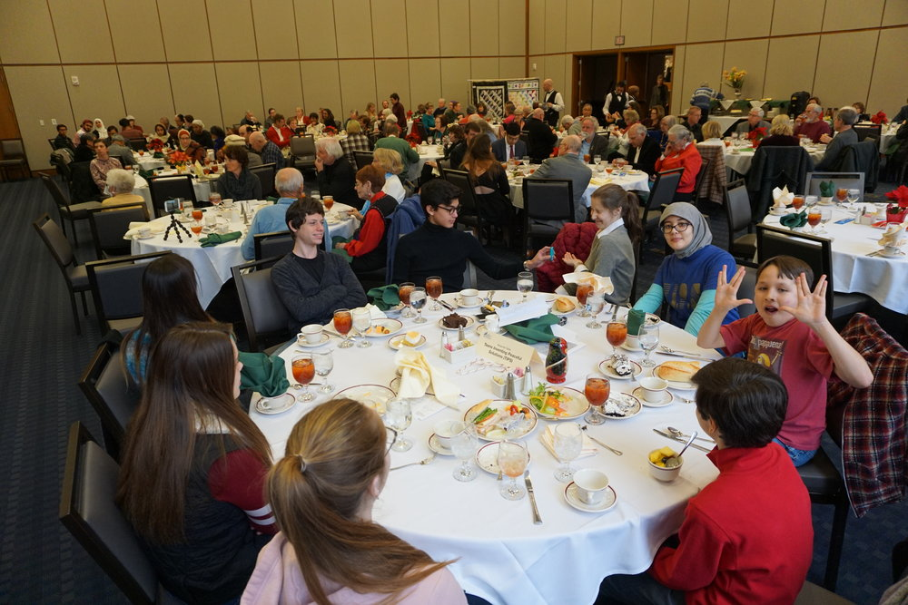 The rowdiest table award goes to the teens table at December 9th Nobel Peace Prize Luncheon!