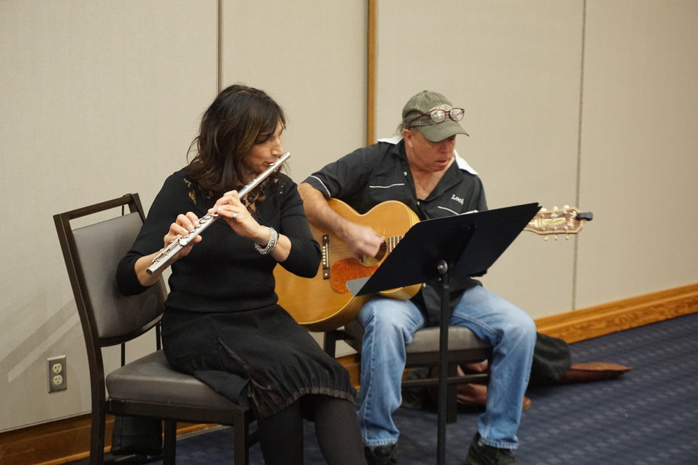 Live music by local musicians was a highlight of the annual luncheon at Sinclair College.