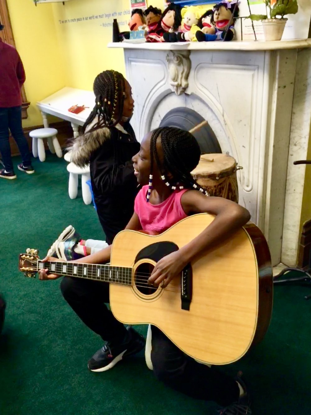 With lots of musical instruments to try out, he museum's children room never fails to draw a crowd. Arguably the loudest room in the museum.