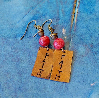 Faith copper earrings