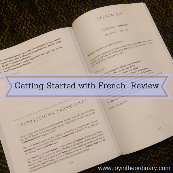 Getting Started with French for homeschoolers