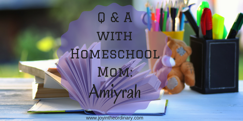 Homeschool interviews with African American Mom Amiyrah Martin