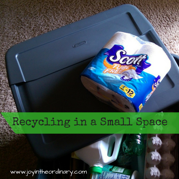 Recycling in a small space with Scott® Tube-Free Bath Tissue