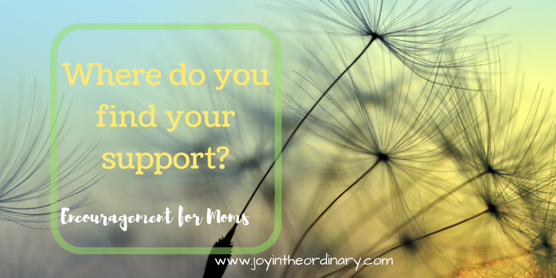 Where do you find your support as a homeschool mom?