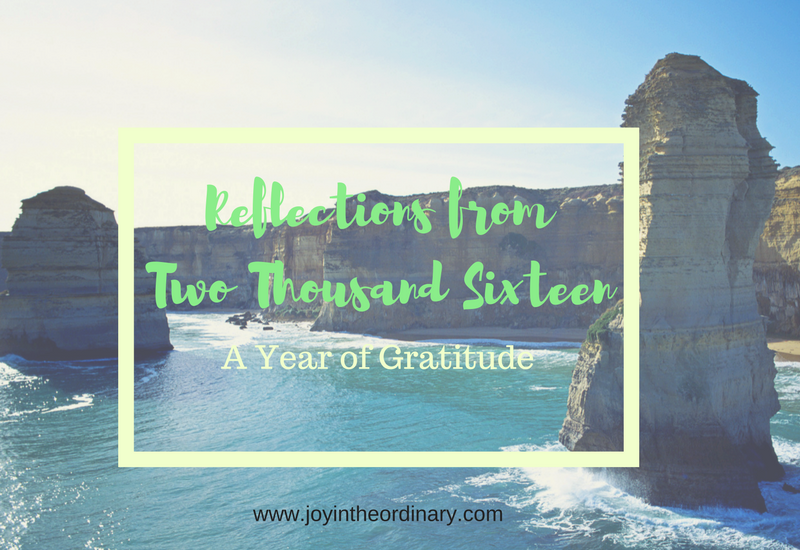 Joy in the Ordinary 2016 Reflections and Highlights