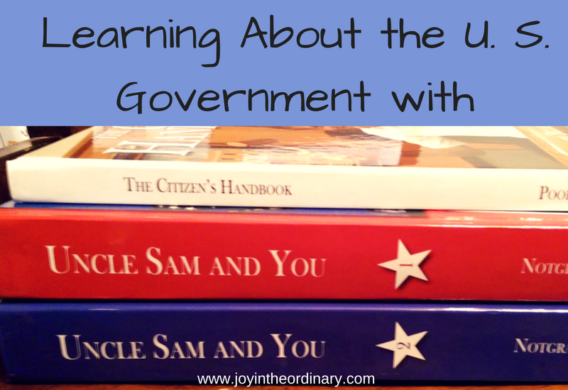 fourth and sixth grade homeschool history with Uncle Sam and You