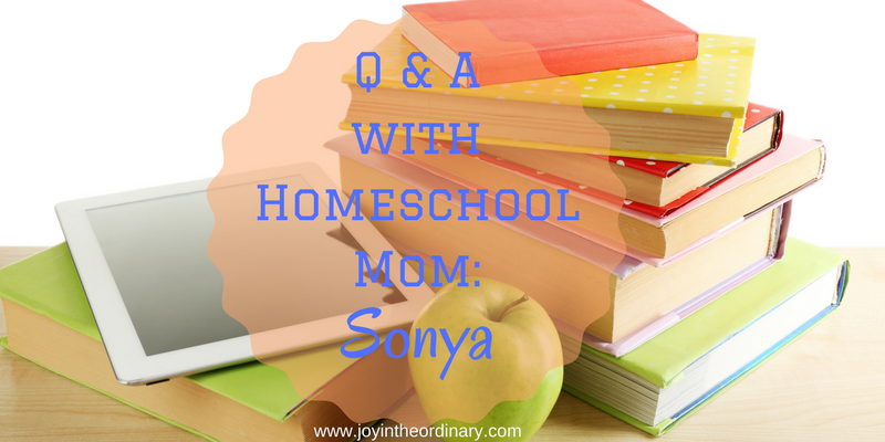 Q & A with homeschool mom Sonya Kendall from www.sonyakendall.com