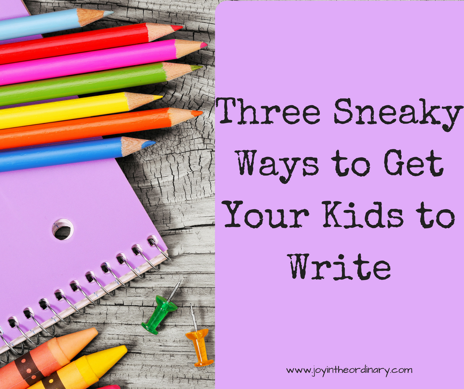 Fun ways to practice writing with kids.  WriteShop homeschool curriculum.