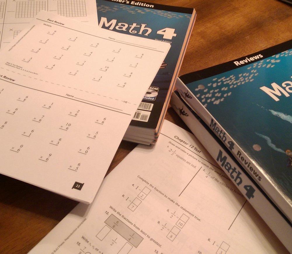 A peek at BJU Press Math 4