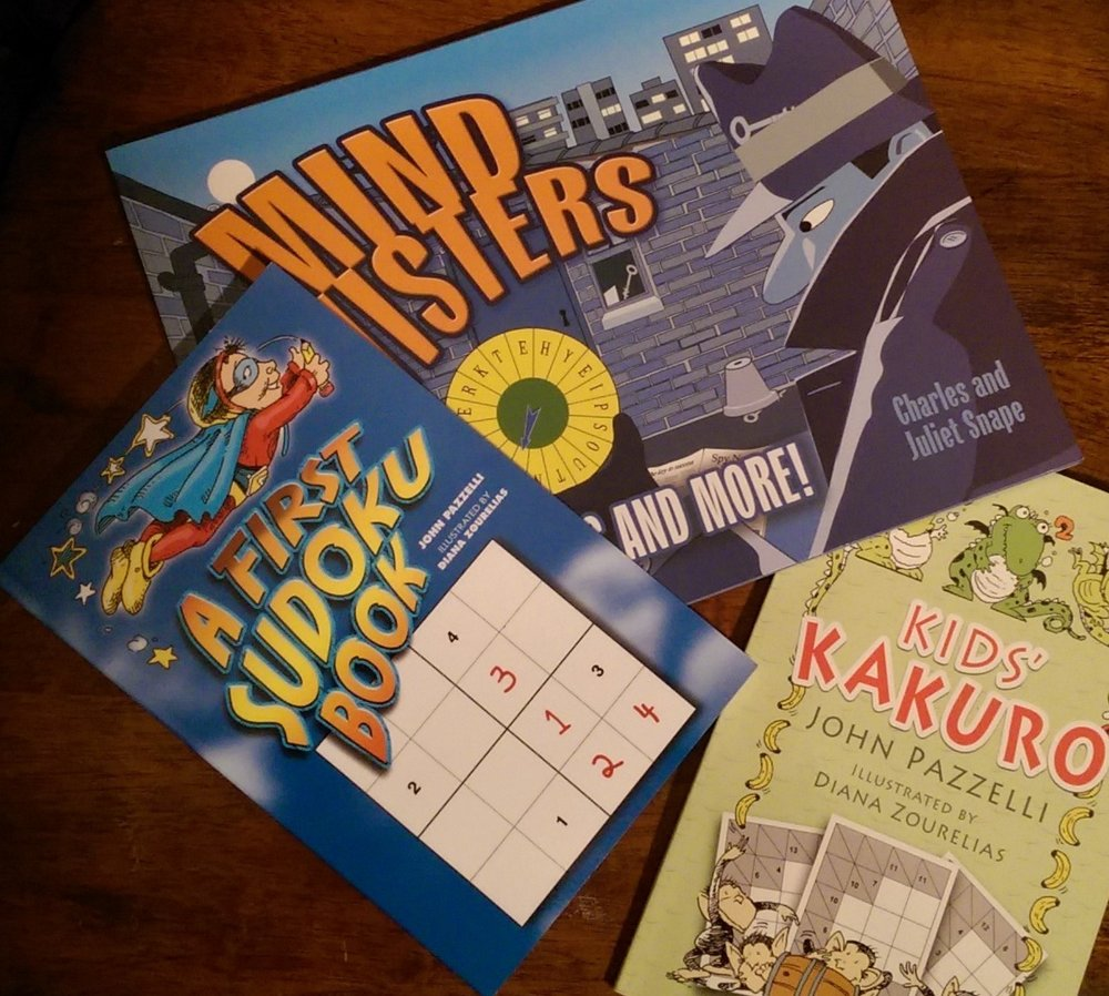 Three fun logic activity books from Dover Publications!