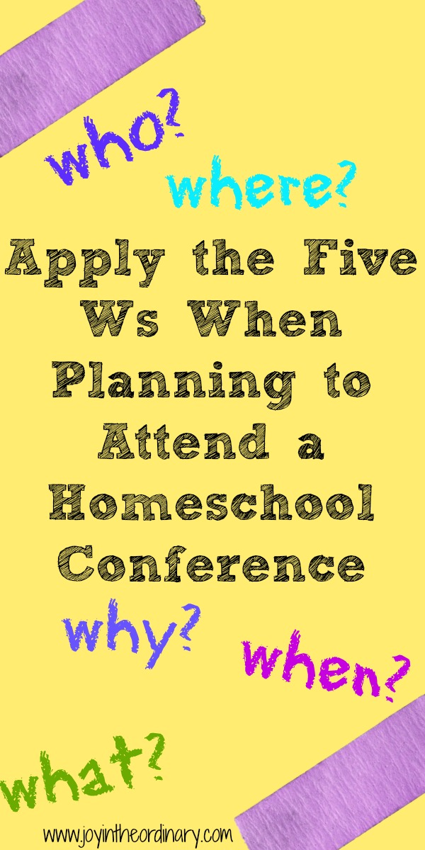 questions for homeschool conferences