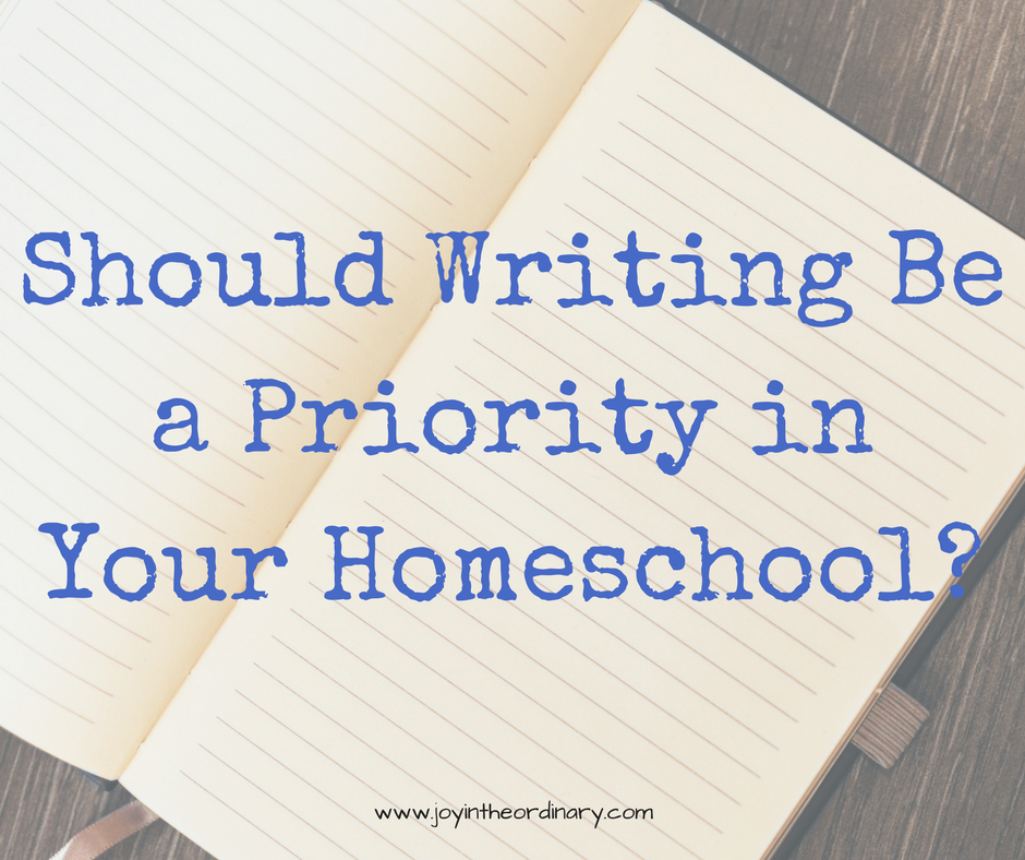 Is writing an important part of homeschooling?