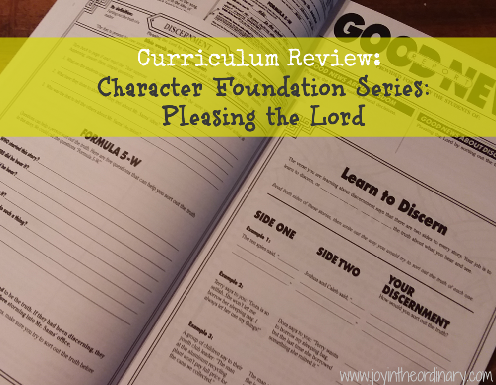 Homeschool character education program for elementary students