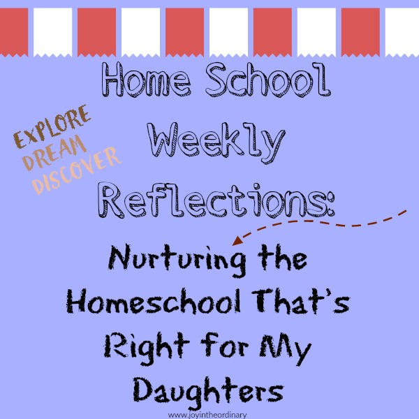 creating the right homeschool space for my daughters