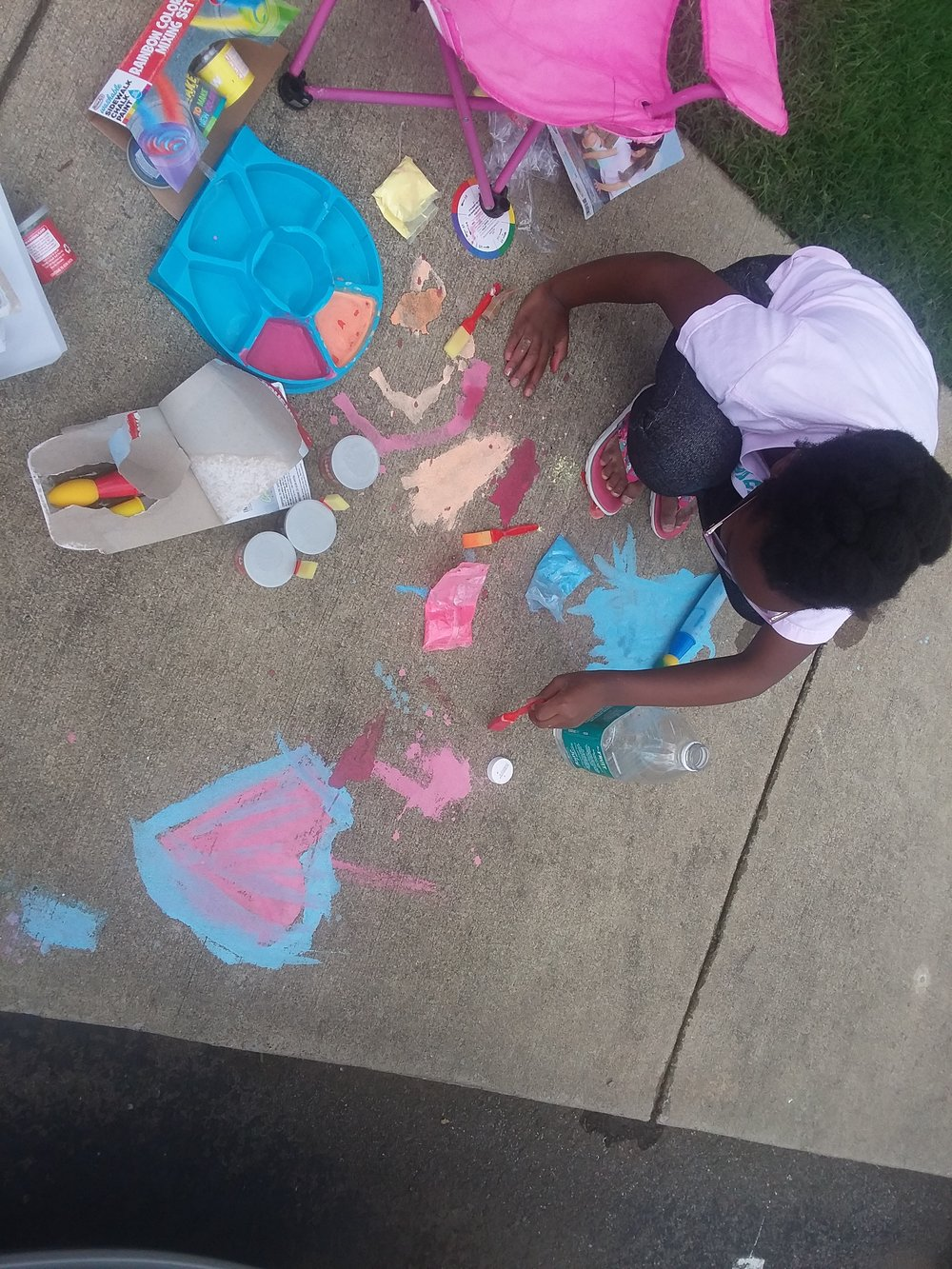 Outdoor fun with Rose Art Sidewalk Paints