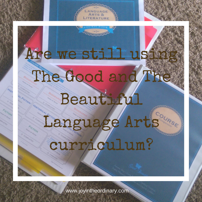 Are we still using the good and the beautiful by Jenny Phillips.