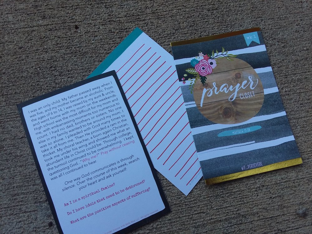 Devotional and journaling cards from the Illustrated Faith Perseverance kit