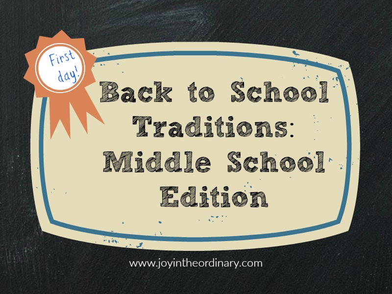 Back to school traditions for middle school students