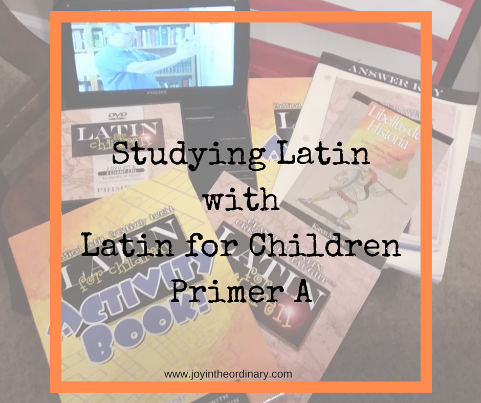 Latin for Children Primer A Review