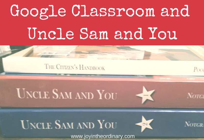 Using Google Classroom as a homeschooler with the Notgrass History program