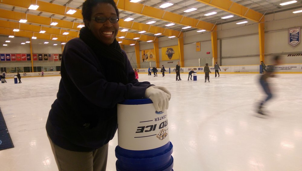 My first time ice skating!