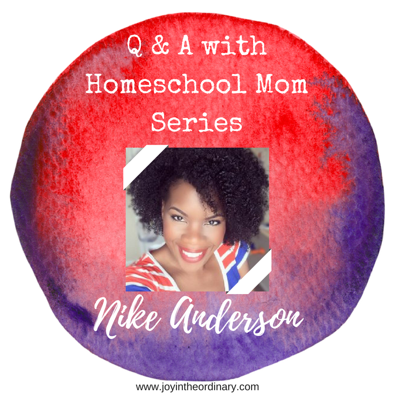 Homeschool mom Nike Anderson from nikeanderson.com