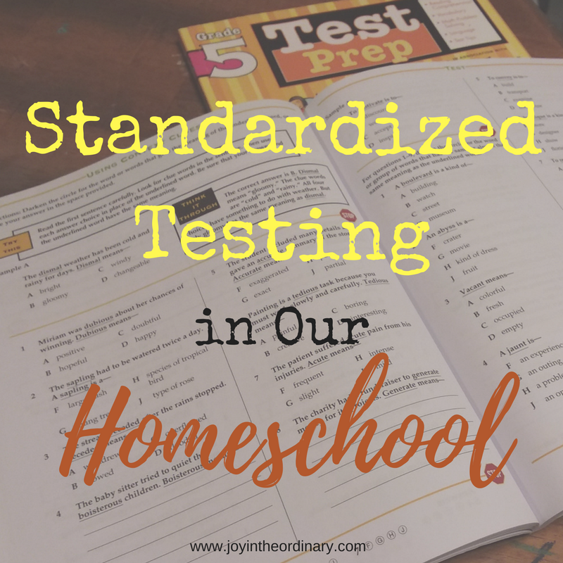 Standardized Testing and homeschooling