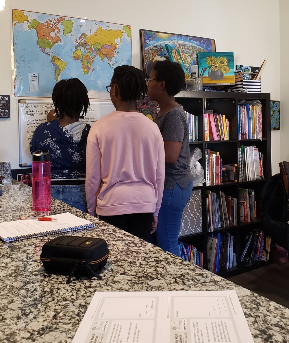 Direct instruction with my daughters