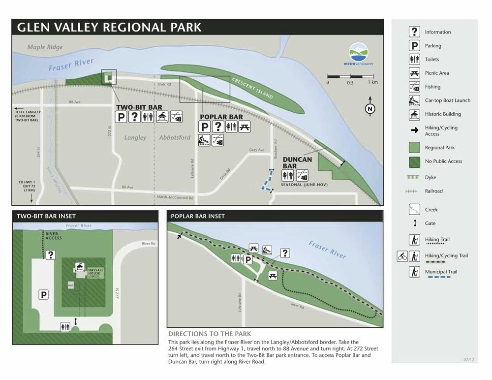 Map Glen Valley Regional Park | Abbotsford Park for ESL Students | Abbotsford ESL | Langley ESL | Chilliwack ESL