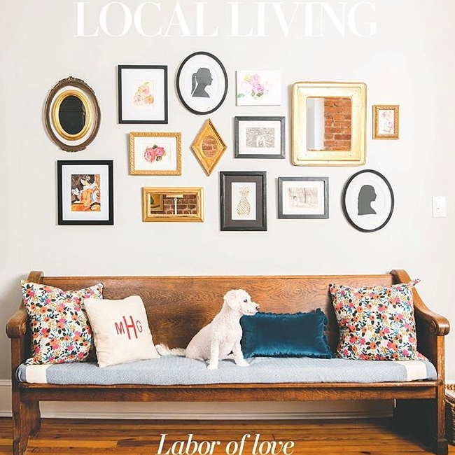 Our wonderful dog, Piper, modeling for the cover of the Local Living section in the Washington Post