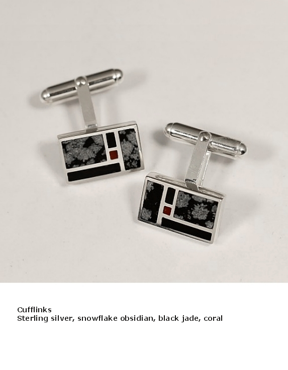 cufflinks snlowflake black coral.JPG