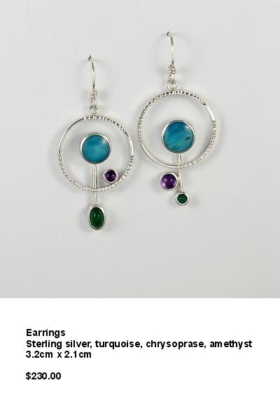 round earrings turquoise chryso amethyst.JPG