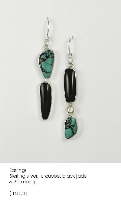 turquoise black jade earrings.JPG