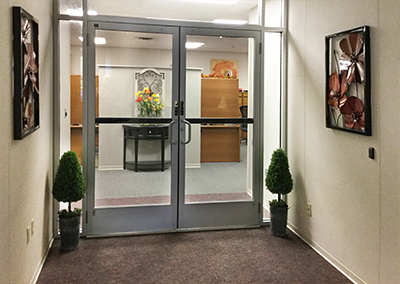 Our new entrance into the Access/Crisis Department - beautiful!