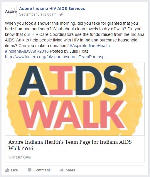 Aspire HIV Services Facebook Page